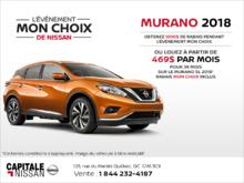 Louez le Nissan Murano 2018! chez Capitale Nissan