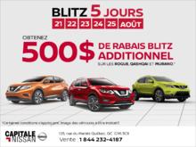 Le Blitz 5 jours de Nissan! chez Capitale Nissan