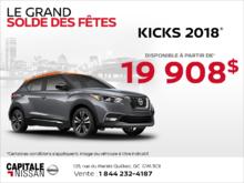 Le Nissan Kicks 2018 chez Capitale Nissan