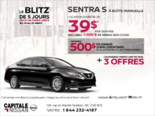 La Nissan Sentra 2019 en rabais! chez Capitale Nissan