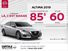 Obtenez la Nissan Altima 2019 dès aujourd'hui! chez Capitale Nissan