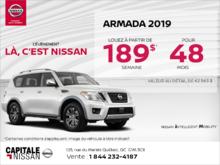 Obtenez le Nissan Armada 2019 dès aujourd'hui! chez Capitale Nissan