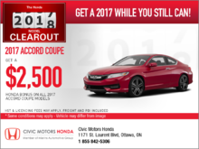 Save on the 2017 Honda Accord Coupe Today!