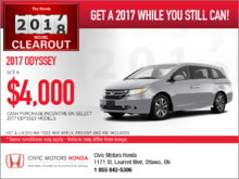 Save on the 2017 Odyssey!