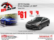 Lease the 2018 Honda Civic Sedan!