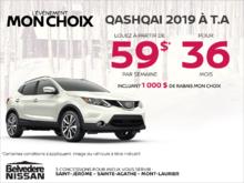 Obtenez le Qashqai 2019 dès aujourd'hui!