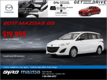 Get the Brand-New 2017 Mazda5 GS!