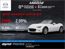 Get the 2017 Mazda MX-5 GX Today!