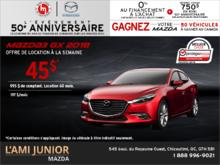 Promotion(id=43223, promotionDepartment=com.sm360.website.clientapi.dto.promotion.PromotionDepartment@e1781, imgUrlFr=null, imgUrlEn=null, imgUrl=/generator/lami-junior-mazda/201808/2018-08-procurez-vous-la-mazda3-2018-f43a7967.png, imgUrl2Fr=null, imgUrl2En=null, imgUrl2=, descFr=null, descEn=null, desc=<p>Louez la <strong>Mazda3 GX 2018</strong> à partir de <strong>45$ par semaine</strong> pour 60 mois avec 995$ de comptant.<br /> Certaines conditions s'appliquent. Cette offre est valide jusqu'au <strong>31 août 2018.</strong><br /> Faites vite et planifiez votre essai routier dès aujourd'hui!</p> , titleFr=null, titleEn=null, title=Procurez-vous la Mazda3 2018!, url1Fr=null, url1En=null, url1=/fr/formulaire/neuf/demande-d-essai-routier/3?picture=2018%2fmazda%2f3%2fgx%2fsedan%2fmain%2f2018_Mazda_Mazda3_Berline_GX_Main_WIP.png&trimId=7597&carId=2493&desired_model=3&desired_make=Mazda&desired=catalog&desired_year=2018&desired_trim=GX, url2Fr=null, url2En=null, url2=/fr/formulaire/neuf/demande-de-prix/1?picture=2018%2fmazda%2f3%2fgx%2fsedan%2fmain%2f2018_Mazda_Mazda3_Berline_GX_Main_WIP.png&trimId=7597&carId=2493&desired_model=3&desired_make=Mazda&desired=catalog&desired_year=2018&desired_trim=GX, url1TitleFr=null, url1TitleEn=null, url1Title=Demande d'essai routier, url2TitleFr=null, url2TitleEn=null, url2Title=Demande de prix, startDate=Tue Jul 31 20:00:00 EDT 2018, endDate=Thu Aug 30 20:00:00 EDT 2018, active=false, archived=false, availableFr=false, availableEn=false, promotionZoneOnly=true, fallback=false, shareable=false, automatic=false, priority=5, makeId=6, modelId=null, year=null, trimId=null, lastModifiedDate=Fri Aug 03 05:37:34 EDT 2018, creationDate=null, promotionZoneIds=null, websiteIds=null, organizationUnitIds=null, youtubeIds={}, youtubeId=, smallPrints={}, smallPrint=null, paymentInfo=null, seoSlugUrlEn=null, seoSlugUrlFr=null, seoSlugUrl=procurez-vous-la-mazda3-2018, imgUrl3Fr=null, imgUrl3En=null, imgUrl3=)