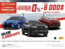 C'est l'événement du fabriquant de Toyota!