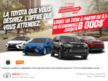 Événement mensuel de Toyota!