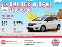 Save on a 2017 Honda Fit DX Today!