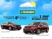 L'événement Les folies du printemps Chrysler!