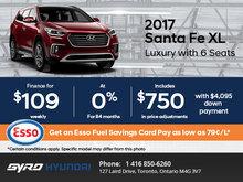 Save on the 2017 Santa Fe XL