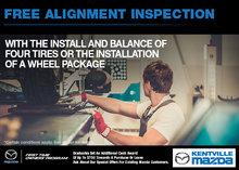 Kentville Mazda's Free Alignment Inspection!