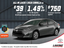 Get the All-New 2018 Toyota Corolla Today!