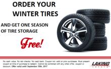 Receive one season of tire storage FREE!