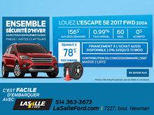 LOUEZ L'ESCAPE SE 2017 FWD 200A