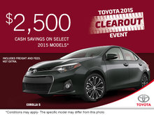 Get the 2015 Toyota Corolla S today!