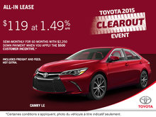 Get the all-new 2015 Toyota Camry LE!