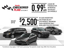Honda's Checkered Flag Sales Event!