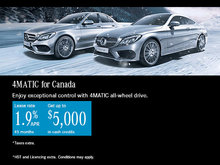 The Mercedes-Benz 4MATIC for Canada Event.