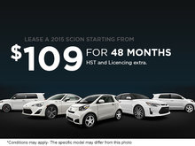 Lease a 2015 Scion from only $109 per month!