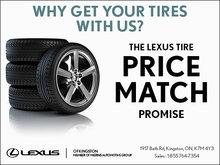 Lexus Tire Price Match Promise!