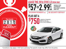 Save on the 2016 Honda Civic Today!