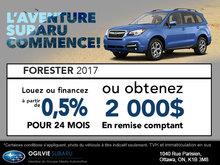 Obtenez le Subaru Forester 2017