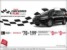 Honda checkered flag event: 2015 Honda CR-V