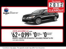 Honda 2015-2016 Model Clearout: 2015 Honda Accord