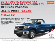 Save on the All-New 2016 Toyota Tundra 4x4!