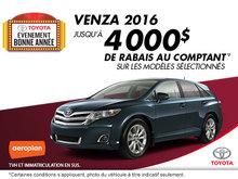 Obtenez la Toyota Venza 2016!