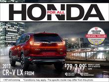 Save on a 2017 Honda CR-V Today!