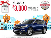 Save on a 2016 Honda CR-V Today!