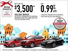 Bring Home a Honda Sales Event!