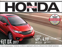 Économisez sur la Honda Fit DX 2017 dès aujourd'hui!