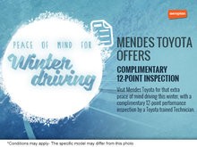 Peace of Mind for Winter Driving at Mendes Toyota