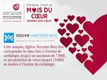 Février, c'est le mois du coeur - Donnez avec coeur!