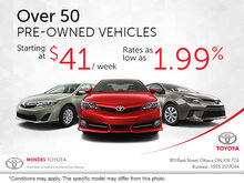 Save Big on Over 50 Pre-Owned Vehicles!
