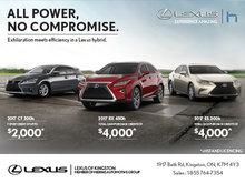 Save on Lexus Hybrids