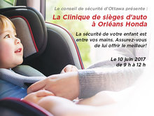 Clinique d'ajustement pour les sièges d'auto chez Orléans Honda