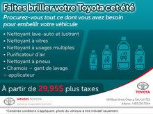 Faites briller votre Toyota cet été!