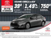 Obtenez la nouvelle Toyota Corolla 2018!