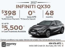 2017 Infiniti QX30 at Morrey Infiniti