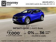2017 Infiniti QX30 AWD at Morrey Infiniti