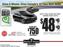 Save Big on the New 2017 Civic Sedan!