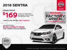 Get the 2016 Nissan Sentra Today!