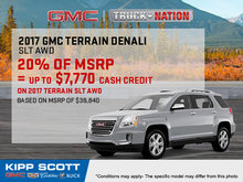 Save Big on the 2017 GMC Terrain Today!